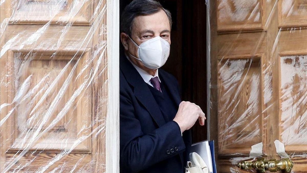 """Draghi insta a la unidad para """"reconstruir"""" Italia frente a emergencias históricas"""