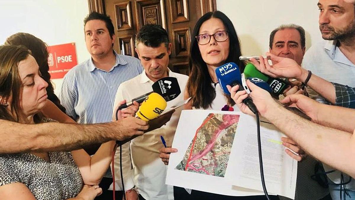 La edil del PSOE  Isabel Pérez.