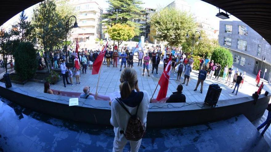 Protestas en Cangas y Moaña contra la subida de la luz