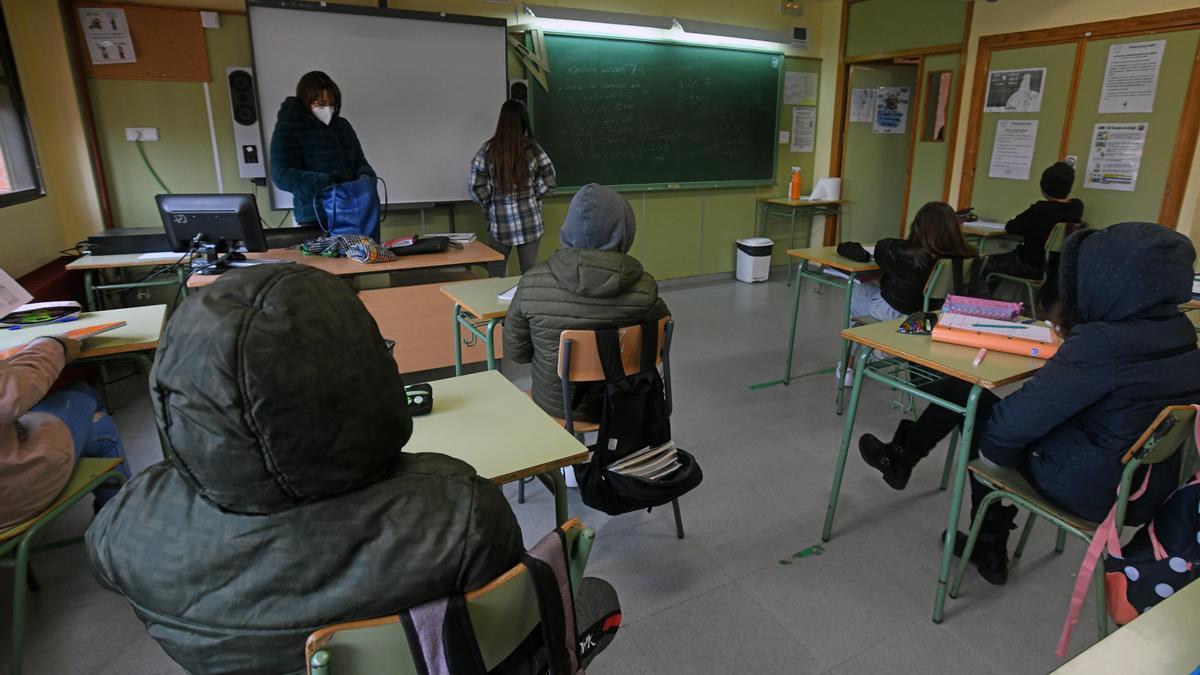Alumnos de un instituto de Murcia, durante una clase este curso