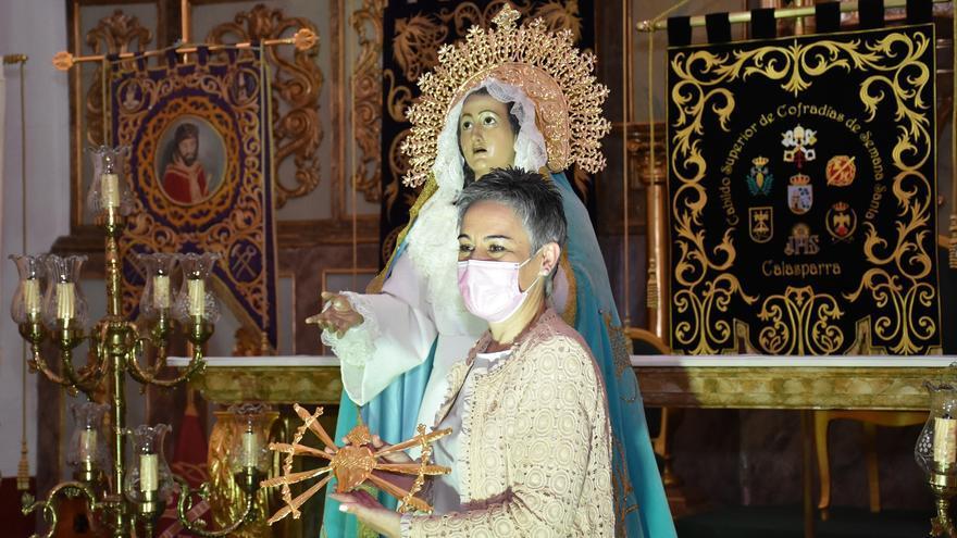 Con la retirada del corazón atravesado por siete puñales a la Dolorosa termina la Semana Santa de Calasparra