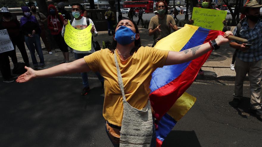 Miles de personas piden en Colombia el fin de la represión tras ocho días de protestas