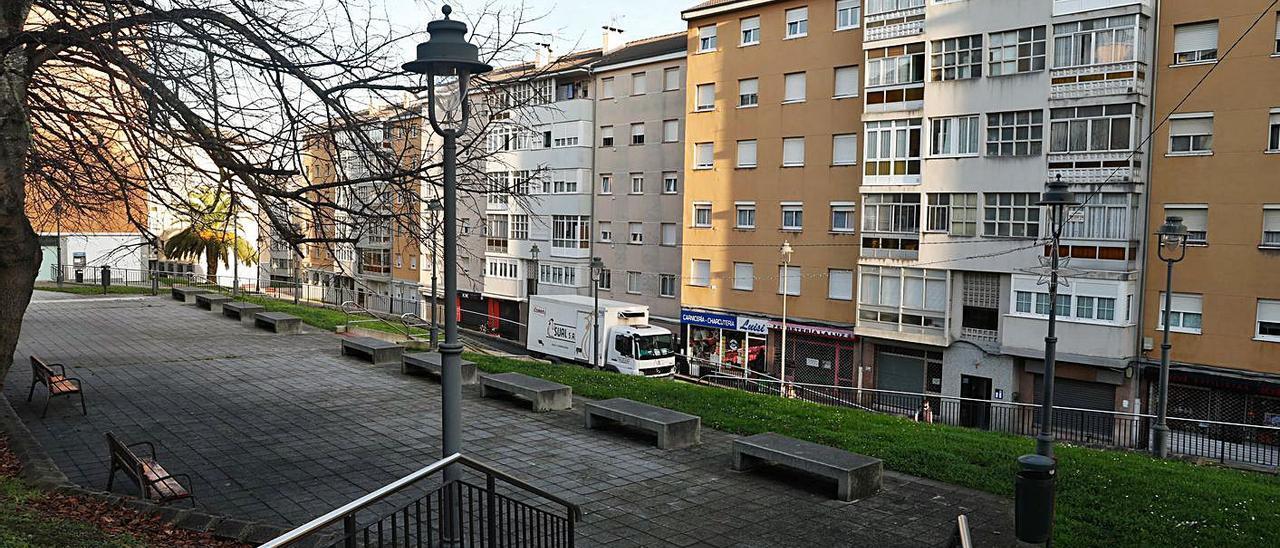 Una de las zonas del barrio de La Luz para las que se plantean escaleras mecánicas.