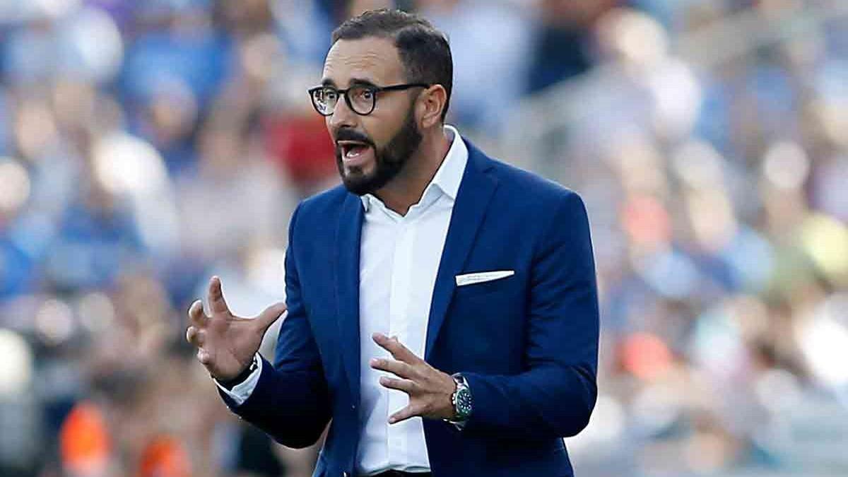 José Bordalás, durante un partido