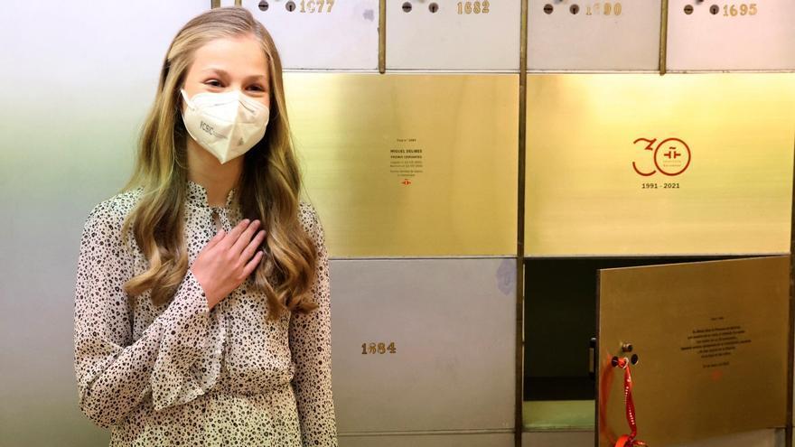 Leonor acude al instituto Cervantes en su primer acto institucional en solitario