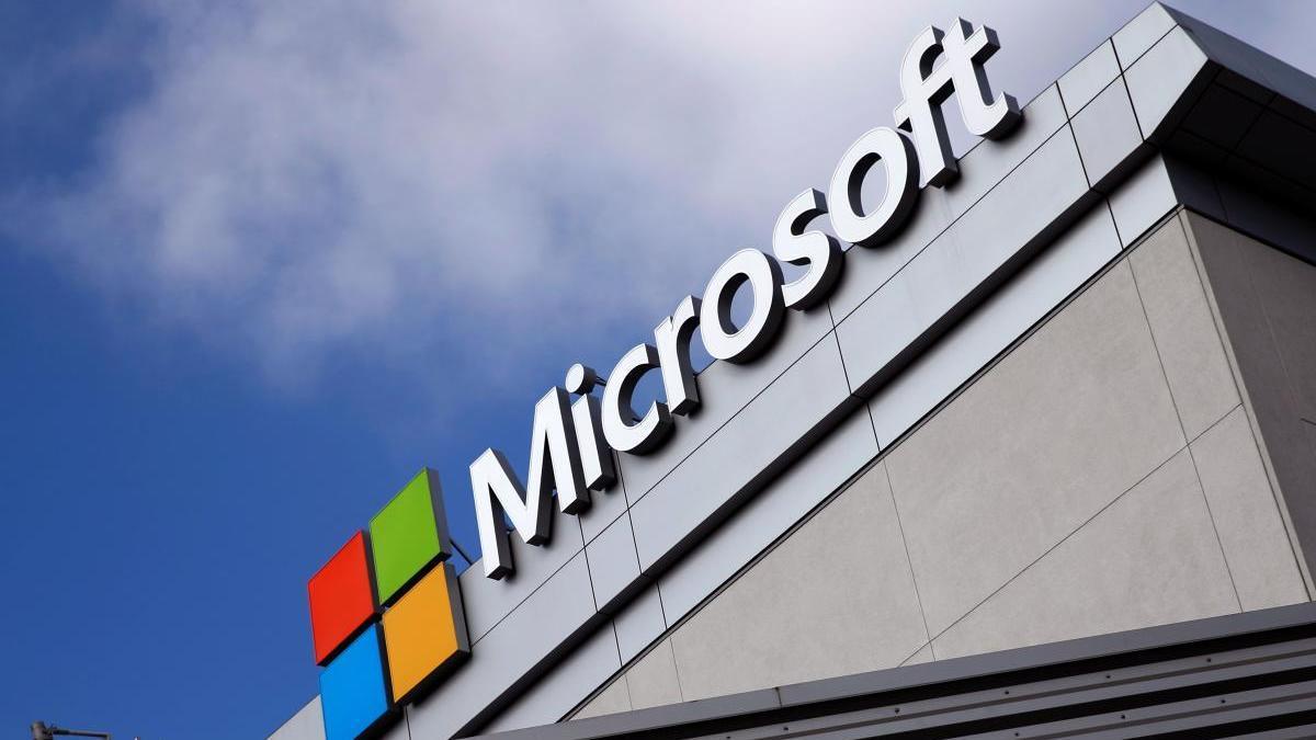 Una imagen del logo de Microsoft.