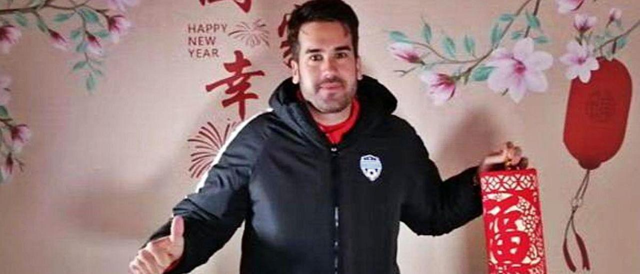 Pablo Checa, en una imagen durante su estancia en China.