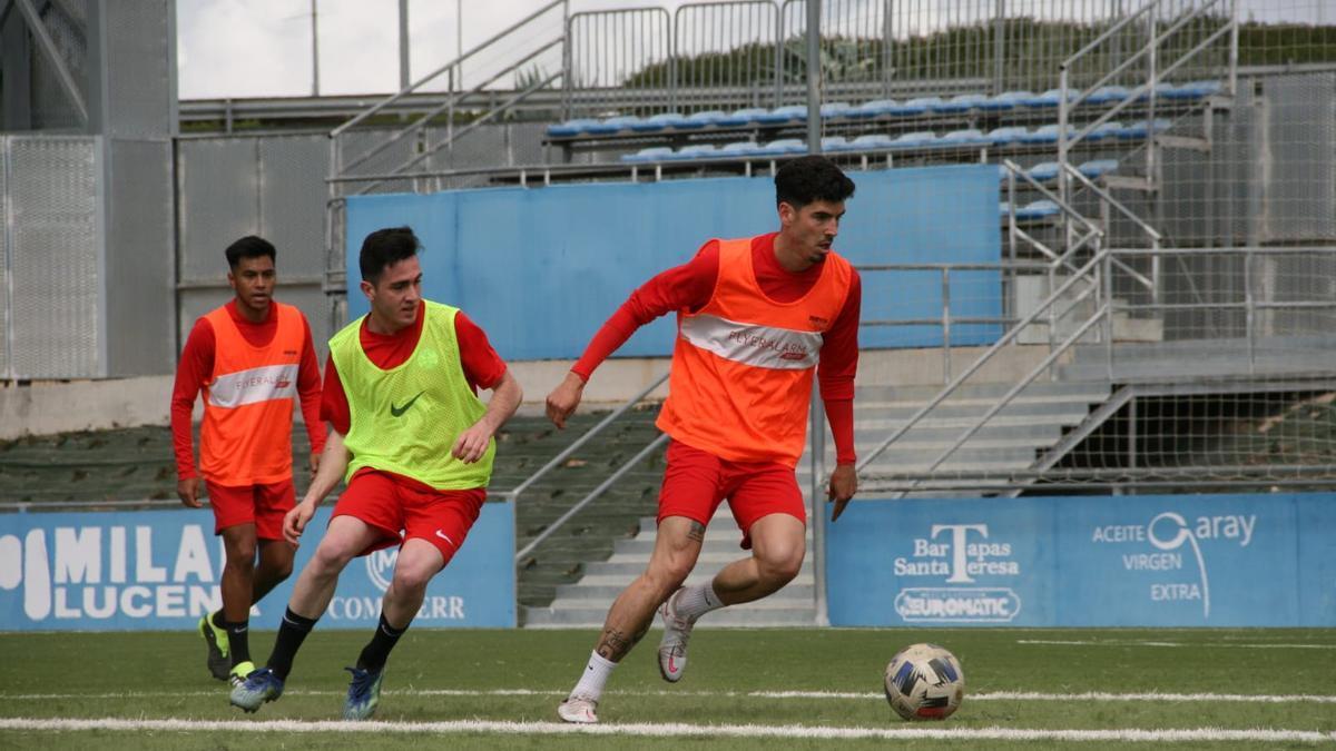 Un entrenamiento del Ciudad de Lucena.