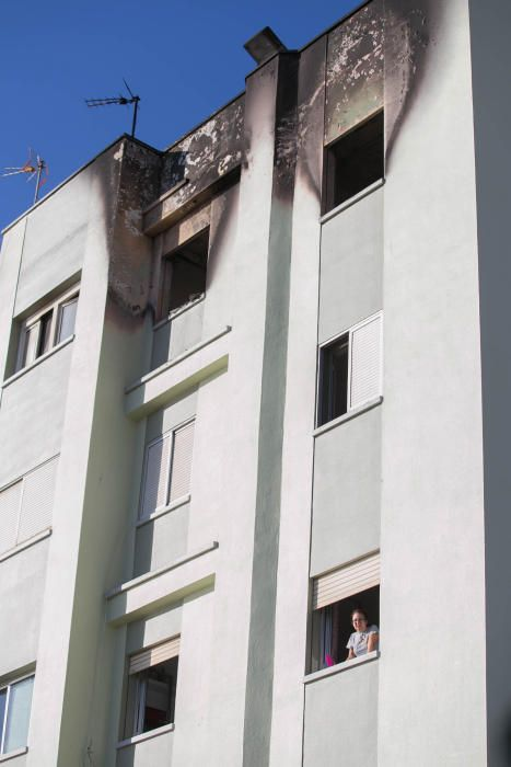Incendio edificio de Añaza