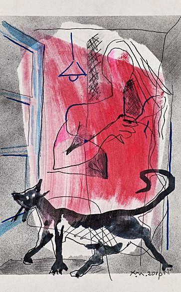 Parella con gato (2010).