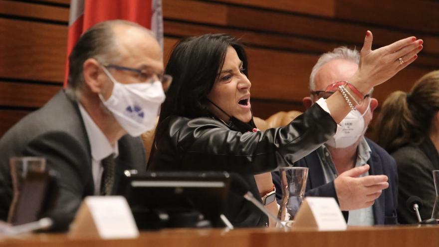 Fuentes expulsa a la socialista Ana Sánchez y llama al orden en el pleno de las Cortes de Castilla y León