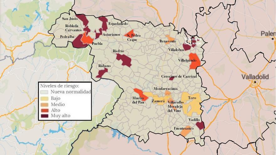 Mapa de coronavirus de Zamora, hoy, lunes | La incidencia baja a 26 casos en la capital