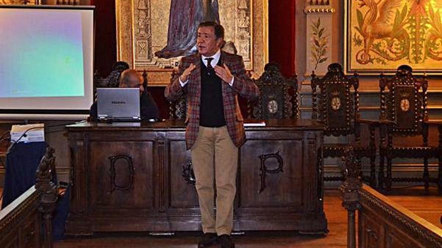 Miguel Ángel Mateos, durante una conferencia.