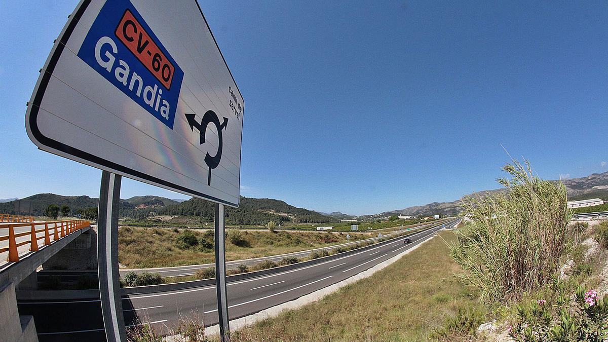 La autovía CV-60, a la altura de Palma de Gandia, que se prolongaría desde Beniflà para conectar con la AP-7 y la N-332. | LEVANTE-EMV