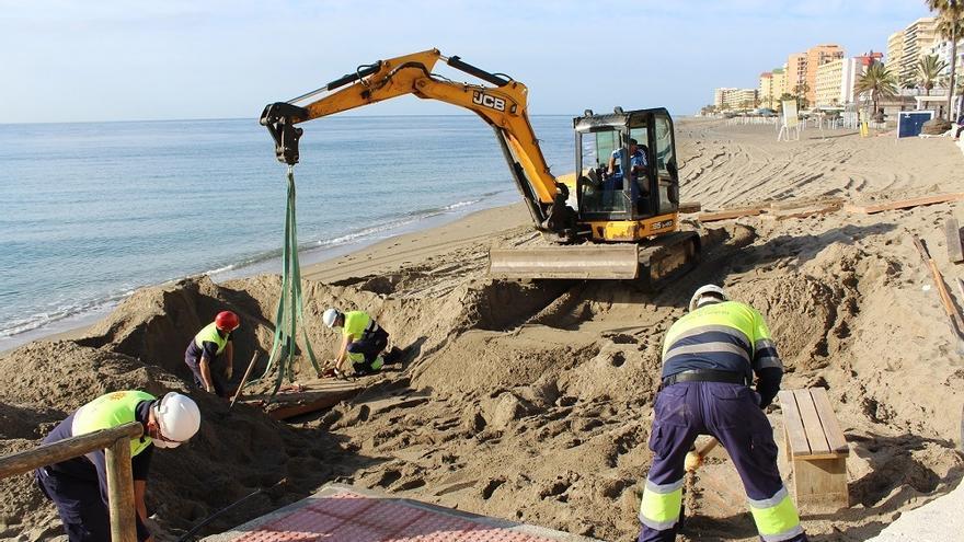 Fuengirola pide a Costas un plan de regeneración de playas tras los temporales