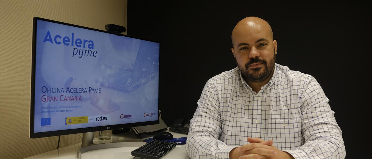 Anecto Falcón, director de la oficina de digitalización de la Cámara de Comercio de Gran Canaria.