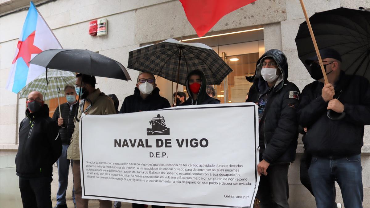 Acción de protesta de la CIG