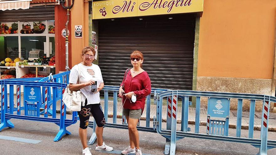 Vecinos desalojados en s'Escorxador: «Ahora trabajamos en un bar»