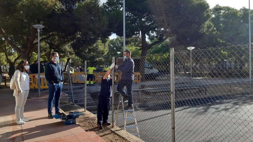 El Ayuntamiento mejora las pistas del parque Orson Welles de Son Gotleu