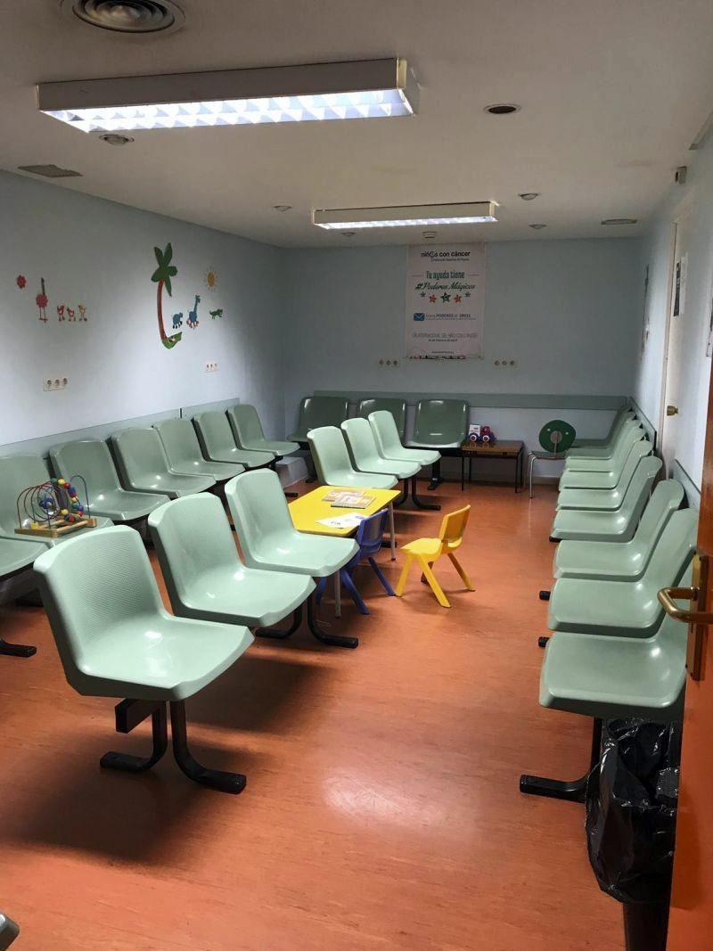 Nueva sala de espera de Oncopediatría y Neuropediatría del Hospital Infantil