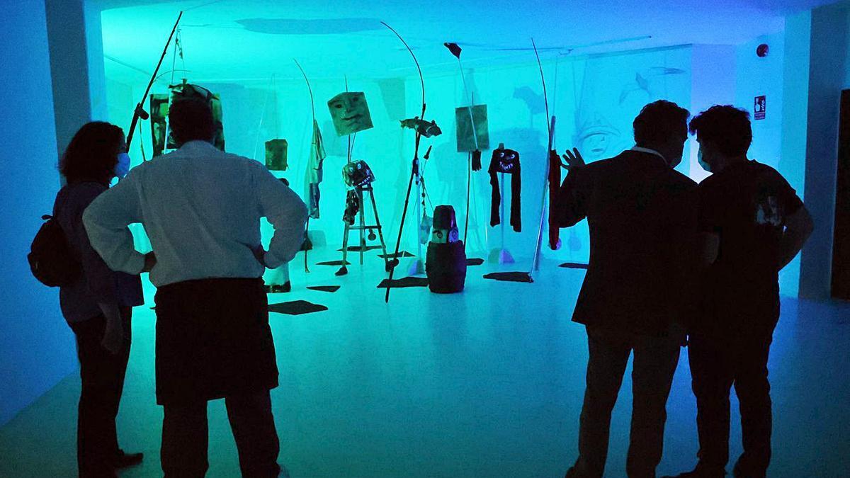 La exposición se puede disfrutar en la Casa das Artes hasta el 19 de septiembre.     // ALBA VILLAR