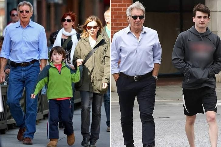 El hijo adoptivo de Harrison Ford y Calista Flockhart. El actor tiene 5 en total.