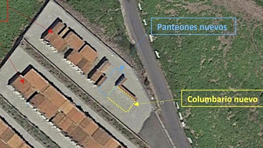 El Concello de Marín construirá un nuevo columbario y ocho panteones en A Raña