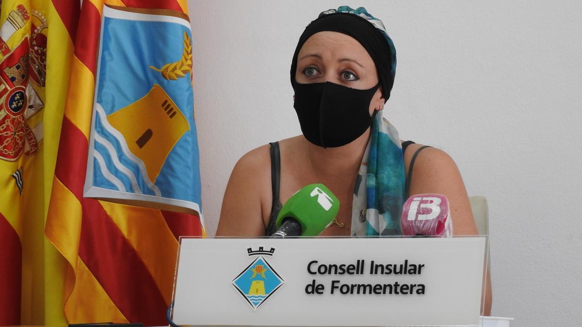 Alejandra Ferrer, presidenta del Consell de Formentera, en una imagen de archivo.