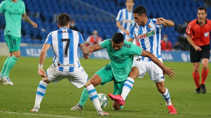 El Reial Madrid venç a Sant Sebastià i se situa líder (0-2)