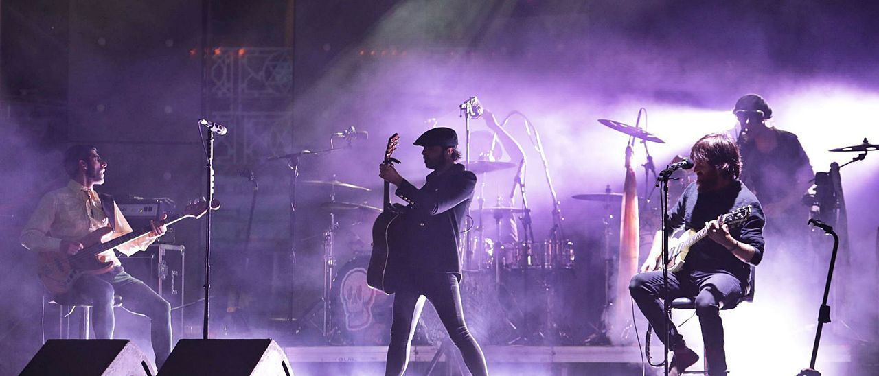 """El concierto de  """"Sidecars"""", anoche en El Bibio.      JUAN PLAZA"""