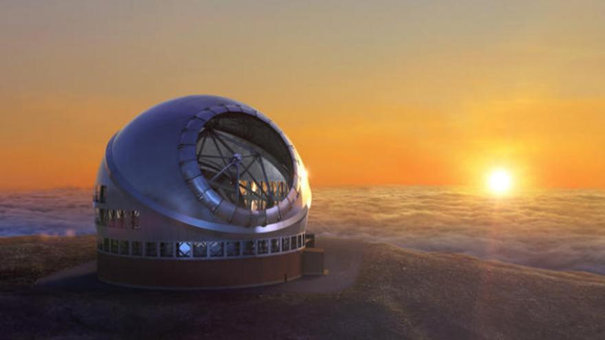 El Consorcio del TMT solicita licencia para construir el gran telescopio en La Palma