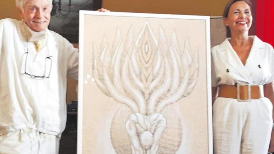 Dámaso diseña un ángel protector de Agaete y pide convertir su casa en museo