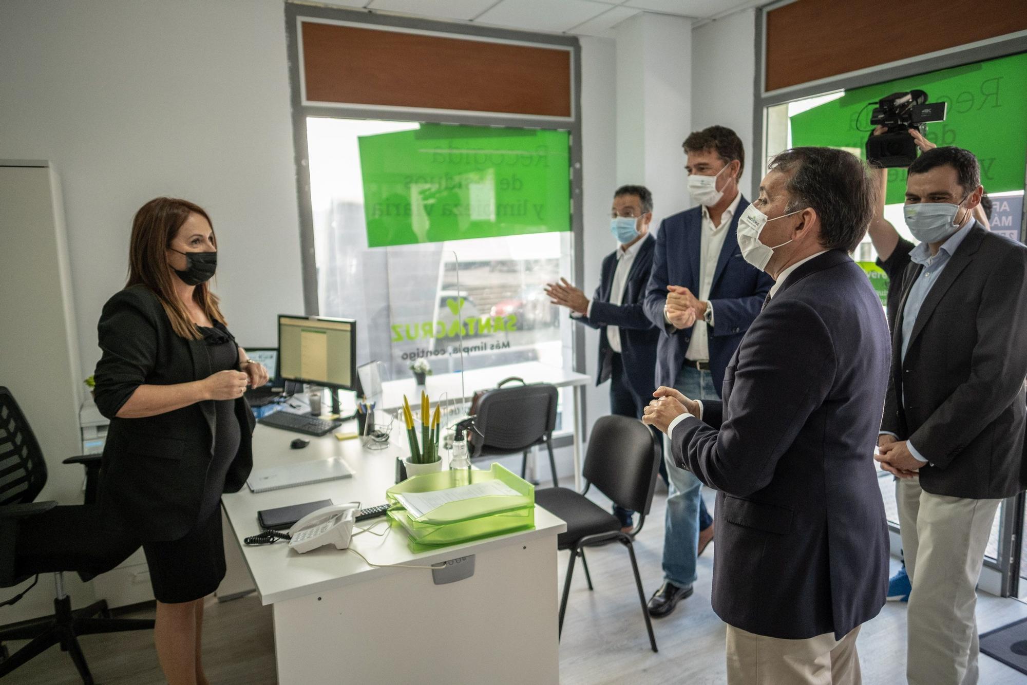 Inauguracion oficina Valoriza, empresa limpieza y recogida residuos Santa Cruz