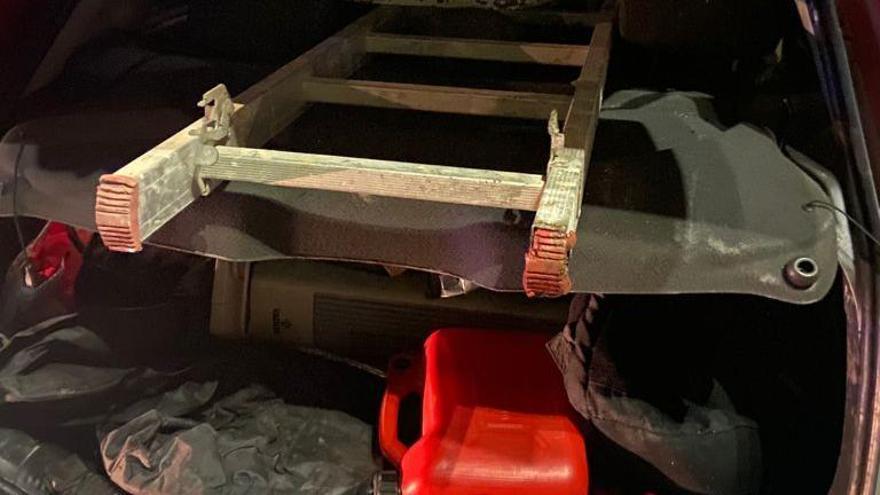 Detenido por robar en una obra cerca del Polígono Padre Anchieta