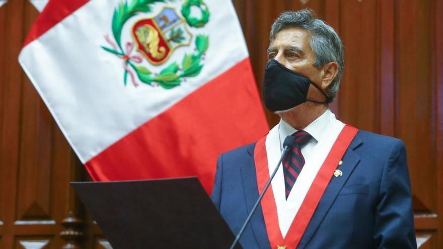 Sagasti asume la presidencia de Perú con el objetivo de recuperar la esperanza