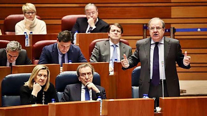 Intervención del presidente de la Junta, Juan Vicente Herrera, en las Cortes de Castilla y León.