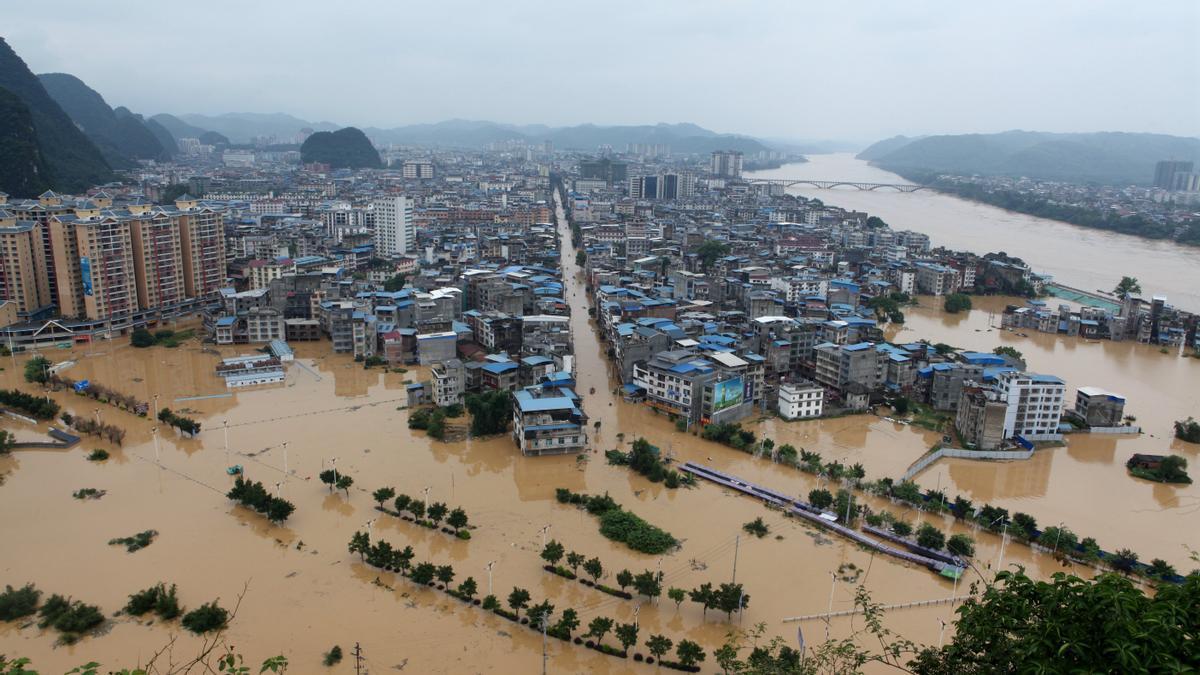 Las lluvias han devastado el centro de China.