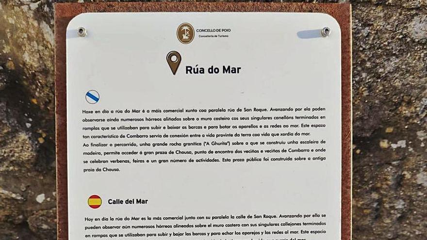 Panel informativo situado en la Rúa do Mar. |   // FDV