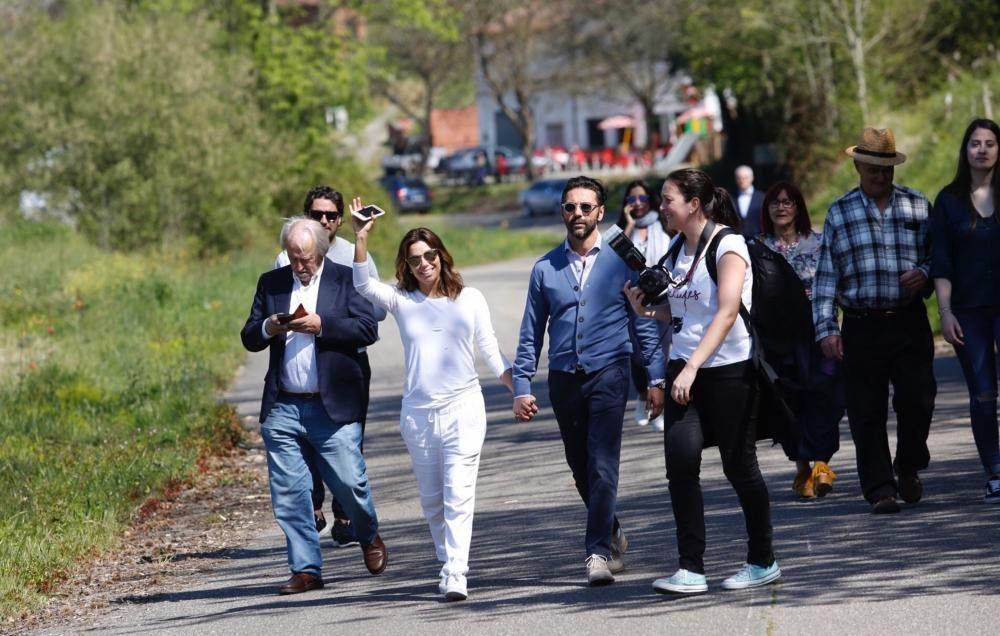 Eva Longoria visita su edén asturiano