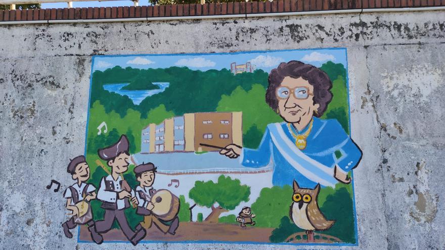El CEIP Daría González, nuevo colegio que divulga su historia con un mural