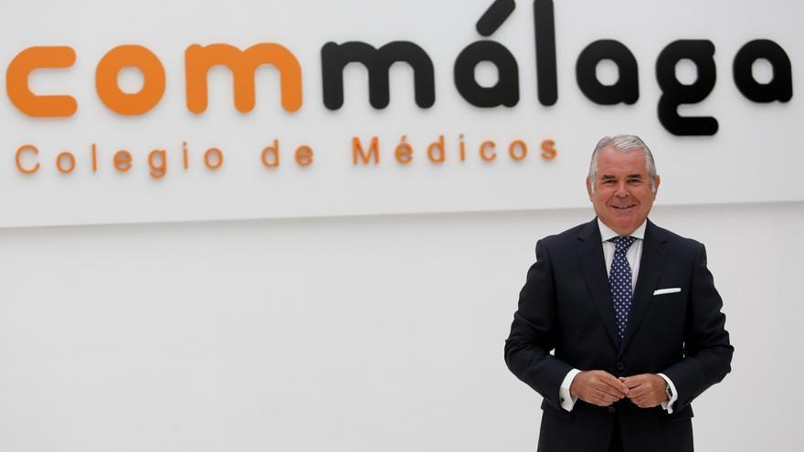 El doctor Pedro Navarro,  presidente del Colegio de Médicos de Málaga
