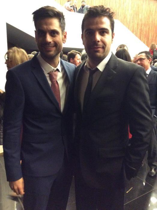Raúl Juan, responsable de informacion.es y Sergio Fernández, responsable de comunicación del Liceo Francés