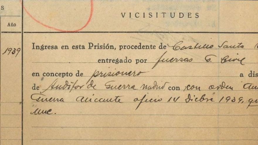 Rescatan los expedientes del campo de concentración del Castillo de Santa Bárbara