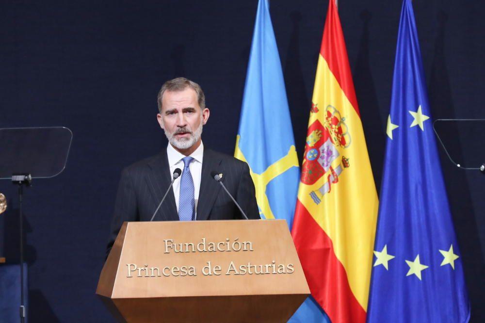 El Rey durante su discurso.