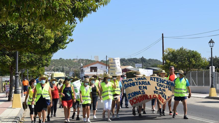 Arranca en Ochavillo la marcha por una mejor atención sanitaria en las zonas rurales