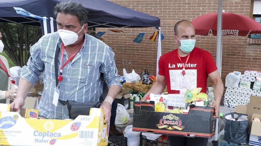 Recogida de alimentos en La Camocha