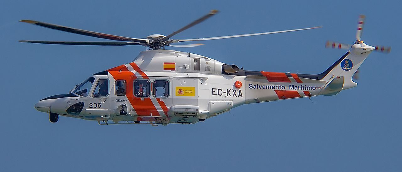 Imagen de archivo de un helicóptero Helimer 505 de Salvamento Marítimo