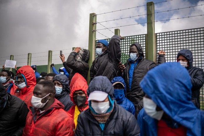Manifestación en Tenerife contra las políticas migratorias