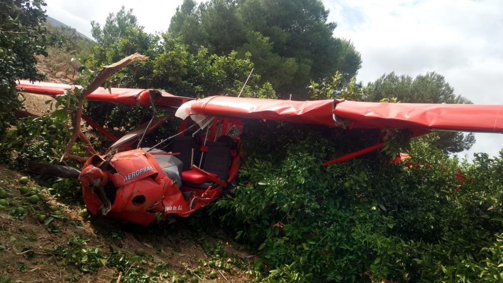 Una avioneta cae en Villar del Arzobispo y deja dos heridos