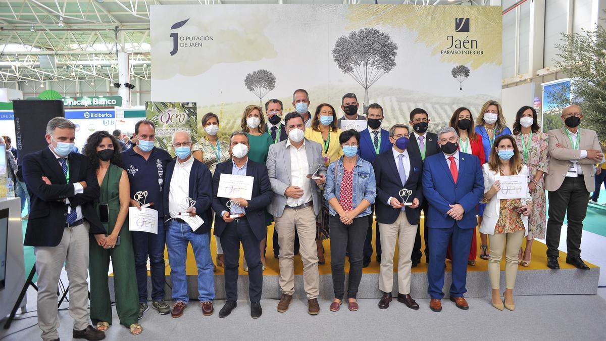 Autoridades y galardonados en la entrega de los premios Aemo.